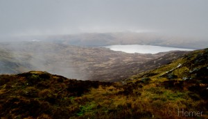 A glimpse of Loch Katrine. form the summit of Ben Venue. Loch Ard Ben Venue round