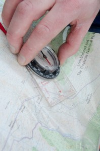 Map & compass. Before the mist and cloud descends take a bearing