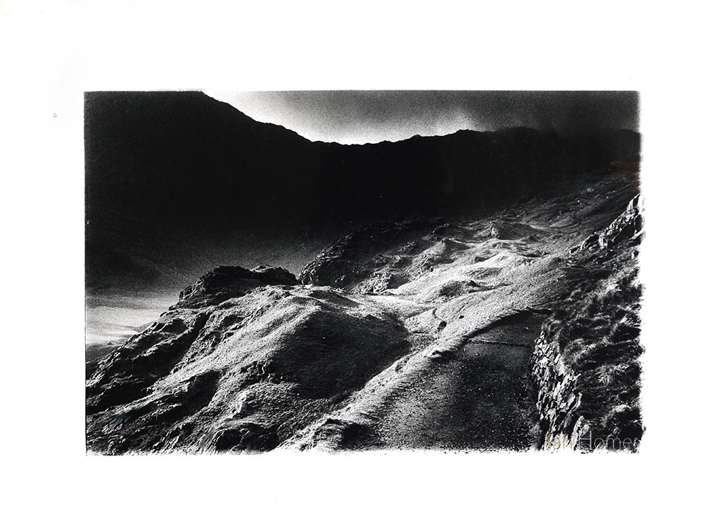 Pyg track, Snowdon, Wales, UK by Ian Homer. Digital copy of  hand print - negative shot on 35mm.