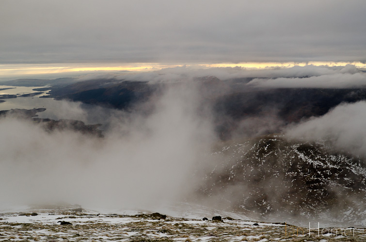 Ian Homer Photography - Ben lomond. Looking Westward as the mist cleared.