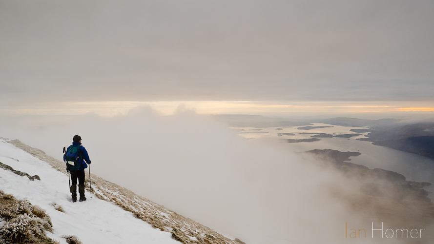 Ian Homer Photography. Ben Lomond The southern end of Loch Lomond appears from out of the mist
