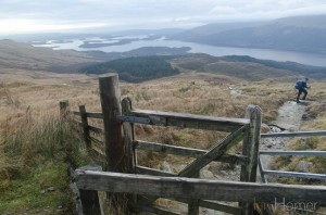 Ian Homer Photography. Kissing gate on the way down the tourist track on the lower slopes of Ben Lomond