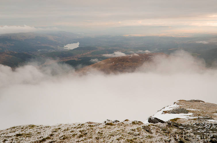 Ian Homer Photography. Loch Ard is revealed from the slopes of Ben Lomond