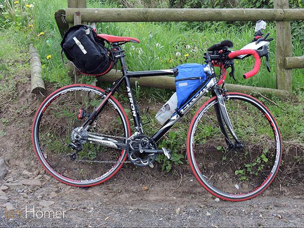 Ian Homer's bike set-up for the big challenge.